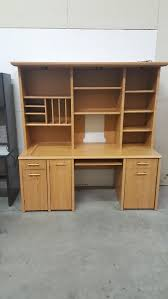 Large Computer Desk With Hutch by Images Of Large L Shaped Desk With Retractable Return And Hutch