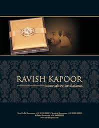 Showroom Invitation Card Press U0026 Media Ravish Kapoor