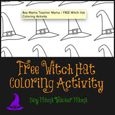 teacher mama free witch hat coloring activity boy mama teacher mama