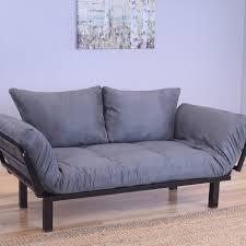 Futon Bed With Mattress Ebern Designs Everett Black Convertible Lounger Futon And Mattress