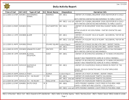 daily activity report template lovely activity report templates personal leave