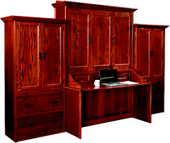 solid wood amish murphy beds desk murphy wall bed croftandspire com