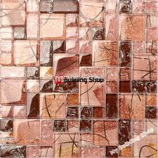 online shop crystal pink mosaic kitchen backsplash glass tiles
