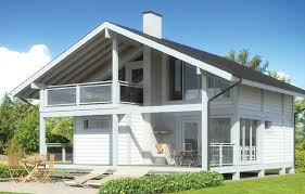 a frame wooden house with balcony and sauna timber frame houses a frame wooden house with balcony and sauna