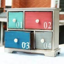 Decoration Storage Containers American Style Wooden Crafts Letter Pattern Decoration Storage Box
