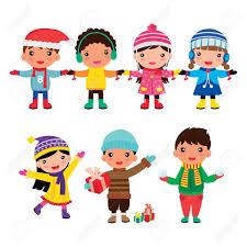 imagenes de archivo libres de derechos niños dibujo animado navidad imágenes de archivo vectores niños
