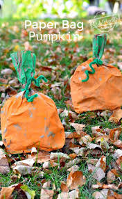 easy and fun paper bag pumpkin craft for kids to make craft