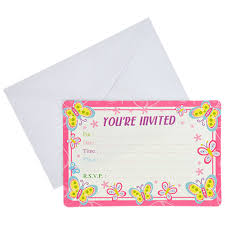 bulk happy birthday butterfly party invitations with envelopes 10