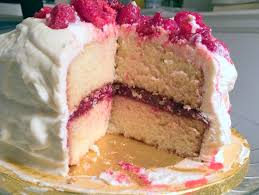 white chocolate cake raspberry filling dishndat