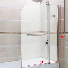6mm glass 180 pivot double door over bath shower screen door