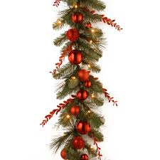 christmas garland battery operated led lights decorative pre lit christmas mixed garland wayfair happy