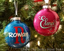 ornaments to personalize personalized glitter ornaments