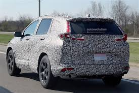 honda cr 2018 honda cr v spied for the first time autoevolution