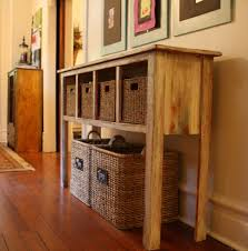 Glass Hallway Table Console Table Console Table With Baskets Storage Living Room