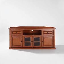 Corner Wood Tv Stands Crosley Furniture Corner Tv Stand For Tvs Up To 60