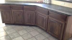 Stain Kitchen Cabinets Darker Re Stain Shade Glaze Kitchen Cabinets Completed Old Masters Gel