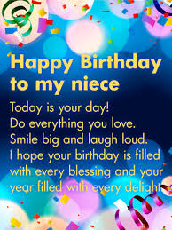 to my card today is your day happy birthday wishes card for niece birthday