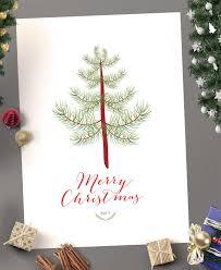 2017 printable kids christmas fingerprint tree craft bespoke prints