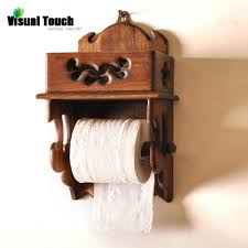 2017 wholesale thailand wood wooden toilet paper holder wall