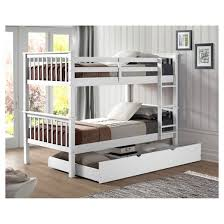 Solid Wood Bunk Bed With Trundle Bed Saracina Home  Target - Solid wood bunk beds