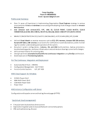 Cloud Computing Experience Resume Aws New Resume