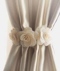 Shabby Chic Curtain Holdbacks by Curtain Tie Back2pcsburlap Flower Curtain Tie Backsshabby
