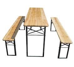 german beer garden table and bench foxhunter outdoor wood wooden vingtage folding beer table bench set