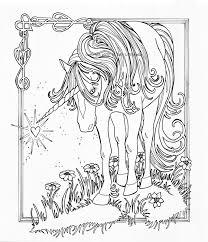 unicorn coloring pages for adults unicorn with wings coloring