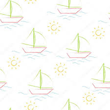 seamless pattern color crayons children u0027s drawings on white