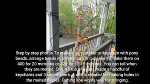 make a suncatcher or keychain with melted pony beads diy crafts