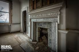 fireplace mantel in abandoned doughty house richmond uk