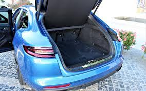 porsche panamera trunk 2018 porsche panamera turbo s e hybrid sport turismo green