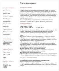 Brand Manager Resume Sample by Sample Marketing Resume Template 6 Free Documents Download In