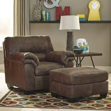 ashley furniture chair and ottoman signature design by ashley bladen casual faux leather chair