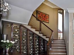 glass wine cellar under stairs wine cellar under stairs