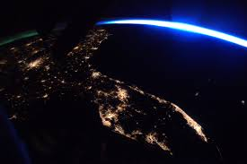 space station u0027s view of florida at night nasa