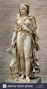 artemis diana greek roman goddess of the hunt statue from the