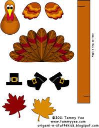 origami n stuff 4 thanksgiving turkey projects