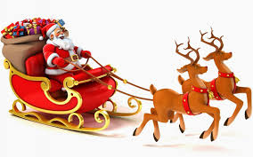 santa clause pictures santa claus coming to town his reindeer sleigh flying in sky