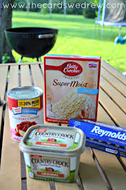 grilled dessert recipe cherrry cobbler on the grill