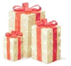lighted christmas present boxes northlight sisal gift boxes lighted christmas