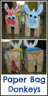 paper bag donkeys donkey crafts for kids easter crafts donkey