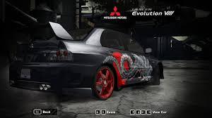 mitsubishi evolution 2017 need for speed most wanted cars by mitsubishi nfscars