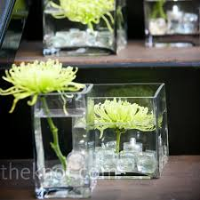 Small Square Vases Square Glass Vases With Glass Stones And A Single Flower The Box