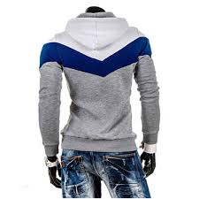 men u0027s slim fit multi colored thick fleece hooded pullover sweater