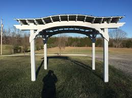 8 10 painted arch pergola with roof tennessee pergolas playsets