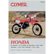 amazon com clymer repair manual for honda xl xr 200 250 350 78 00