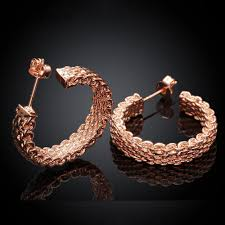 Buy Designer Gold Plated Golden Aliexpress Com Buy Rose Gold Plated Earrings For Womens Gold