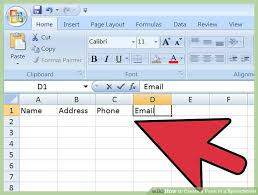 Creating A Spreadsheet 3 Ways To Create A Form In A Spreadsheet Wikihow