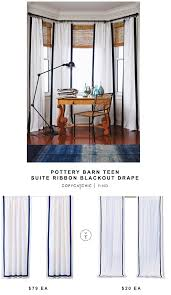 curtains archives copycatchic pottery barn teen suite ribbon blackout drape for 79 each on sale vs target circo ribbon